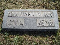 Sarah J <I>Baker</I> Hardin