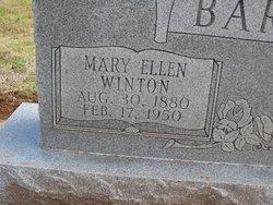 Mary Ellen <I>Winton</I> Barbour