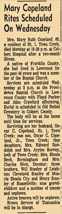Mary Ruth <I>Stanley</I> Copeland