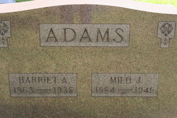 """Harriet Adele """"Della"""" <I>Smith</I> Adams"""