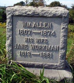 Jane <I>Workman</I> Allen