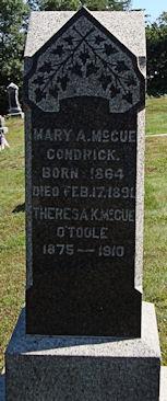 Mary A <I>McCue</I> Condrick