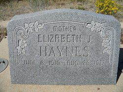 Elizabeth <I>Johnson</I> Haynes
