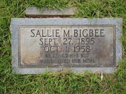 Sallie M <I>Burks</I> Bigbee