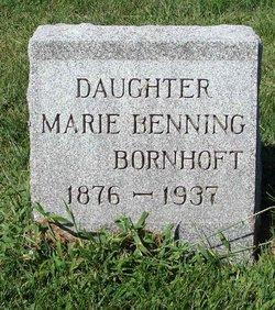 Marie <I>Benning</I> Bornhoft