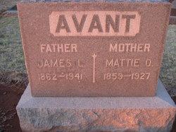 """Martha Octavia """"Mattie"""" <I>Beall</I> Avant"""
