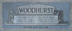Ruth V. <I>Rife</I> Woodhurst