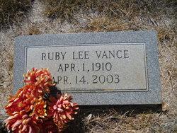 Ruby Lee <I>Nettles</I> Vance