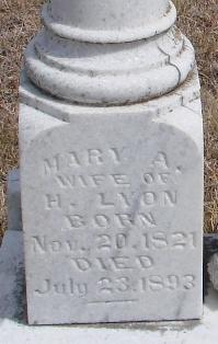 Mary Ann <I>Fox</I> Lyon