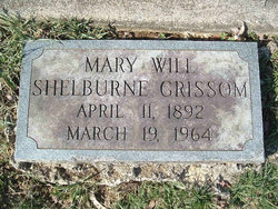 Mary Will <I>Shelburne</I> Grissom