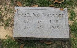 Hazel <I>Walters</I> York