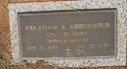 Abraham A Adderhold