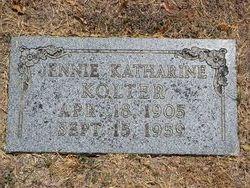 Jennie Katharine <I>Kerr</I> Kolter