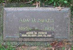 Ada D. <I>Moore</I> Burtis