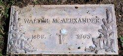 Walter Monroe Alexander