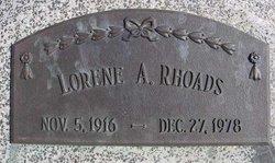 Lorene A. <I>Martens</I> Rhoads