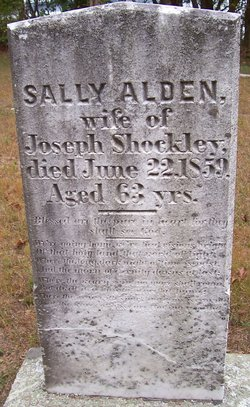 "Sarah ""Sally"" <I>Alden</I> Shockley"