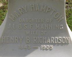 Mary Hampton <I>Manning</I> Richardson