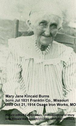 "Mary Jane ""Jane"" <I>Kincaid</I> Burns"