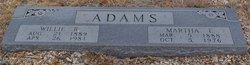 """Martha Elizabeth """"Mattie"""" <I>Crawford</I> Adams"""