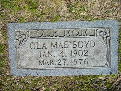 Ola Mae <I>Williams</I> Boyd