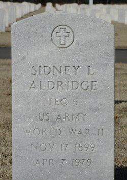 "Sidney L ""Dick"" Aldridge"