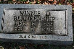 Winnie D. <I>Jones</I> Blankenship
