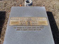 Martha Elizabeth <I>Fountain</I> Strickland