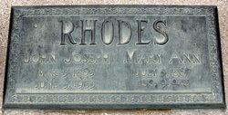 Mary Ann Peckett <I>Horsley</I> Rhodes