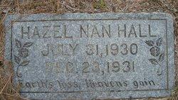 """Hazel Janice """"Nan"""" Hall"""