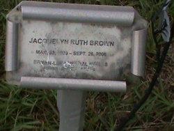 "Jacquelyn Ruth ""Jackie"" <I>Leingang</I> Brown"