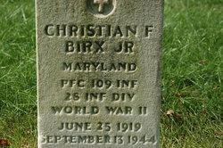 PFC Christian F Birx, Jr