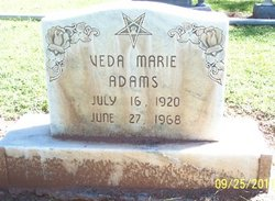 Veda Marie <I>Fell</I> Adams