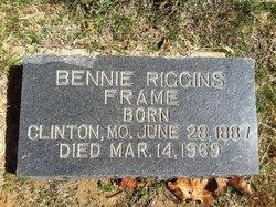Bennie <I>Riggins</I> Frame