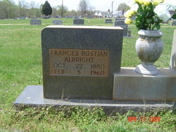 Frances <I>Bostian</I> Albright