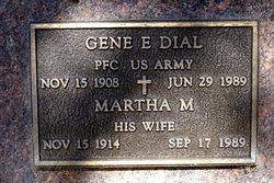 Martha M <I>Carrico</I> Dial