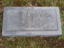 "Indiana ""India"" <I>Andrews</I> Butler"