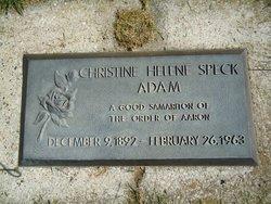 Christine Helene <I>Speck</I> Adams