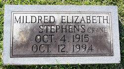 Mildred Elizabeth <I>Bagwell</I> Stephens Crane