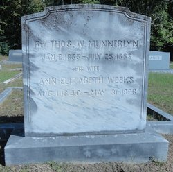 Rev Thomas Wesley Munnerlyn 1833 1889 Find A Grave Memorial