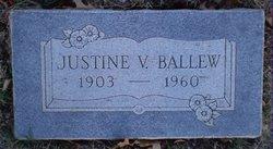 Justine Emma <I>Vera</I> Ballew