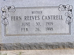 Fern D <I>Reeves</I> Cantrell