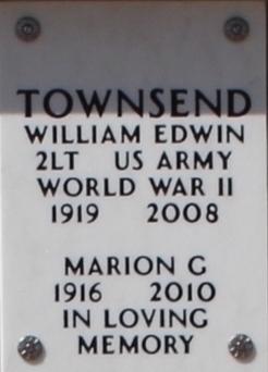 2LT William Edwin Townsend