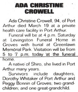 Ada Christine Crowell