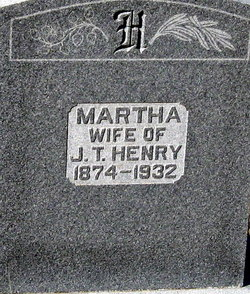 "Martha Mattie ""Aunt Matt"" <I>Jones</I> Henry"