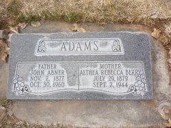 Althea Rebecca <I>Berry</I> Adams