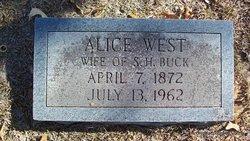 Alice <I>West</I> Buck