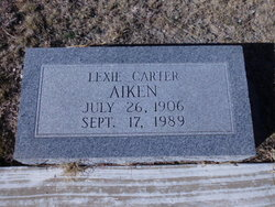 Lexie <I>Carter</I> Aiken