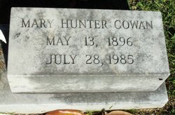 "Mary Virginia ""Maudie"" <I>Hunter</I> Cowan"