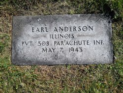 Pvt Earl Anderson